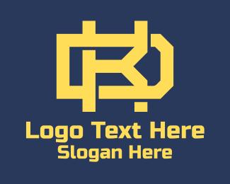 K - Yellow Letter K & D logo design