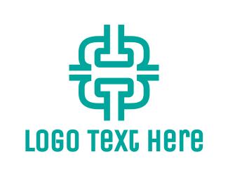 Fabrication - Modern Number 8 logo design