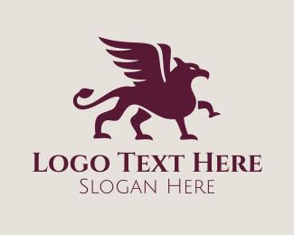 Creature - Mythical Griffin Creature logo design