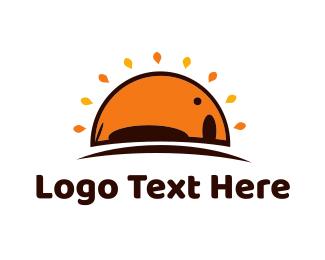 Dawn - Elephant & Sun  logo design