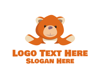 Teddy - Orange Teddy logo design
