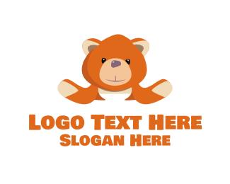 Teddy - Orange Teddy logo design