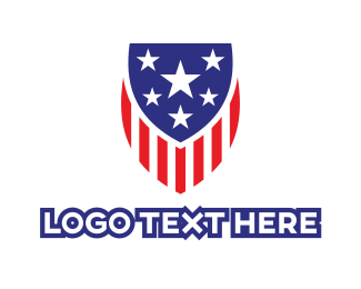 Law Enforcer - America Shield logo design