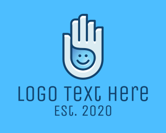 Sanitary - Happy Hand Sanitizer Liquid logo design