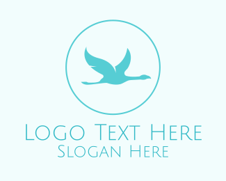 Heron - Stylish Albatross logo design