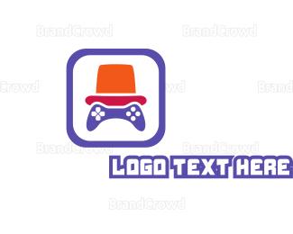 Hat - Orange Hat Gaming logo design