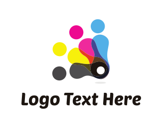Printer - Ink Characters logo design