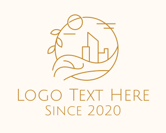 Capital - Urban City Building logo design