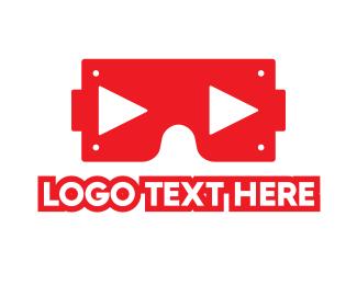 Movies - VR Player logo design