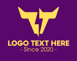 Resources - Yellow Lightning Horns logo design