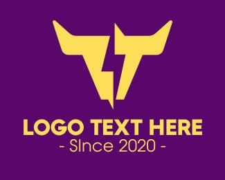 Lightning - Yellow Lightning Horns logo design