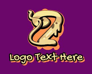 Graffiti Art - Graffiti Art Letter Z logo design