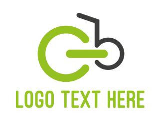 Cart - Green Bicycle logo design
