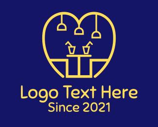Food Store - Golden Food Cafe logo design