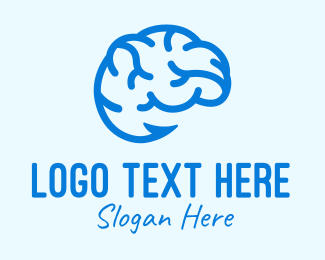 Psychiatrist - Blue Brain Hook logo design