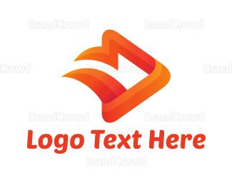 Video Player - Media Fire logo design