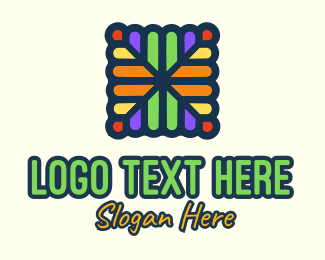 Textile - Colorful Stained Glass logo design
