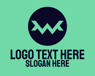 Audio Wave - Zigzag Letter W  logo design