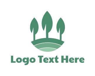 Farming - Modern Leaf Tree logo design