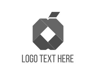 Paper - Origami Apple logo design