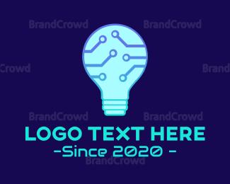 Technological - Technological Bulb logo design