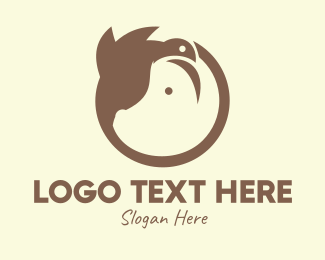 Pig - Monogram Bird Pig logo design