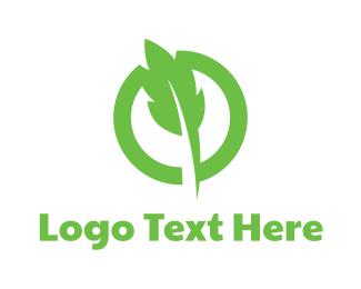 Badge - Green Leaf Badge logo design