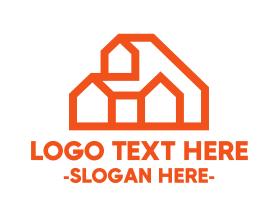 Town - Orange Hill House logo design