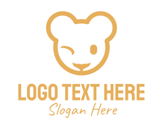 Plushie - Brown Teddy Bear logo design
