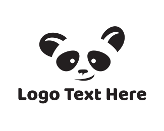 Japan - Smiling Panda Face logo design