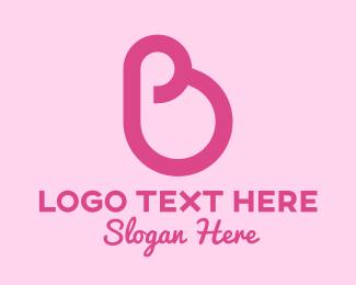 Pregnancy - Pink Mother Pregnancy Letter B logo design