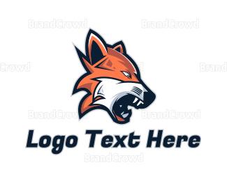Predator - Angry Wolf Gaming logo design