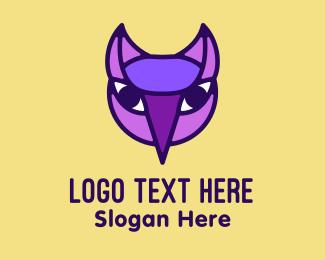 Trick Or Treat - Purple Nocturnal Owl logo design
