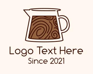 Carafe - Brown Coffee Carafe logo design