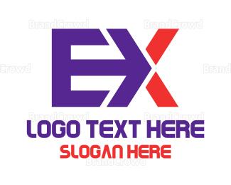 Tagline - Arrow Ex logo design