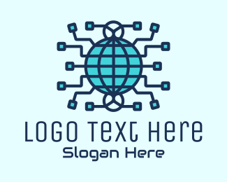Telecommunication - Global Cyber Tech Company logo design