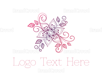 Bud - Pink & Purple Flower logo design