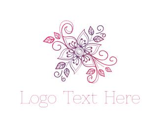 Bouquet - Pink & Purple Flower logo design