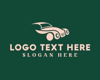 Driving - Vintage Classic Automobile Car logo design