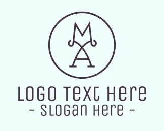 Mom - M & A logo design