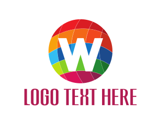 W Logo - Colorful Globe logo design