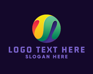 Paint - Colorful Paint Marble logo design