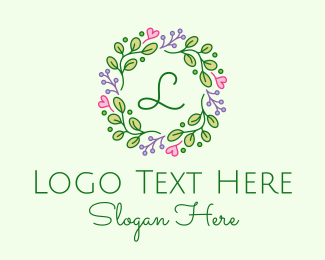 Invitation - Heart Floral Boutique logo design