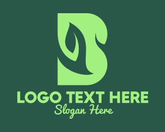 Organic Products - Vegan Letter B logo design