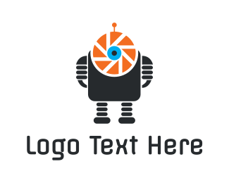 Artifical Intelligence - Photo Robot logo design