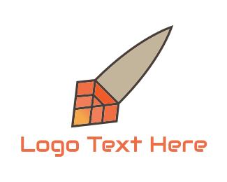 Vc - Diamond Rocket logo design