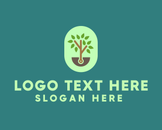 Harvesting - Small Tree logo design