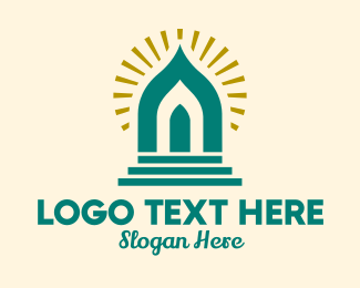 Temple - Holy Temple Doorway logo design