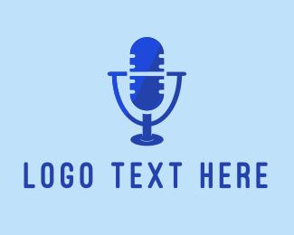 Podcast - Microphone Pill logo design