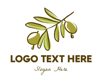 Branch - Olive Tree logo design